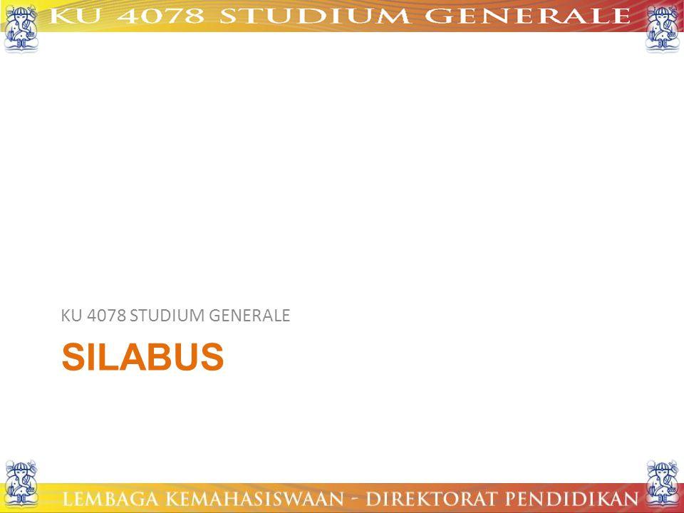 KU 4078 STUDIUM GENERALE silabus