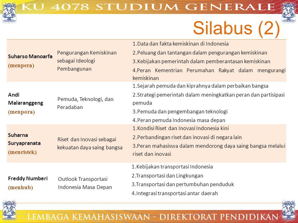 Silabus (2) Suharso Manoarfa (menpera)