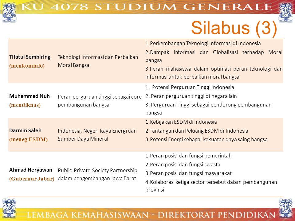 Silabus (3) Tifatul Sembiring (menkominfo)
