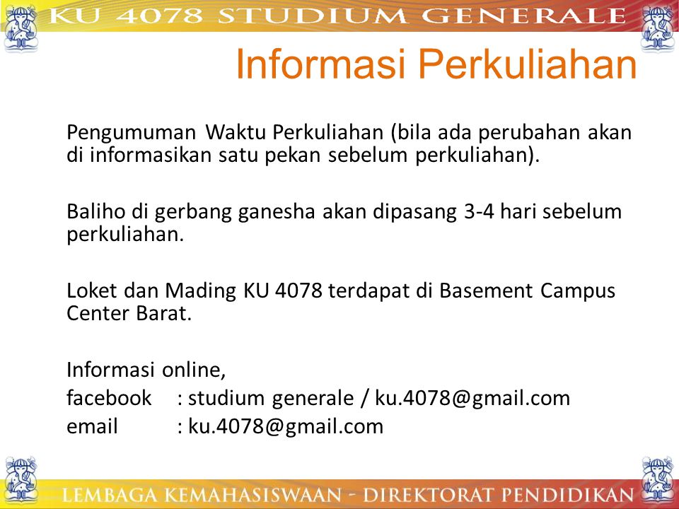 Informasi Perkuliahan