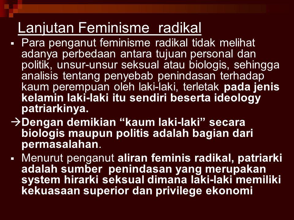 Lanjutan Feminisme radikal