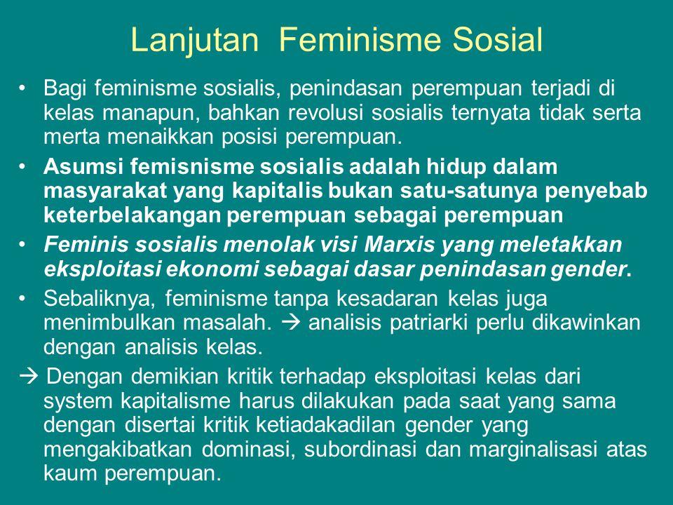 Lanjutan Feminisme Sosial