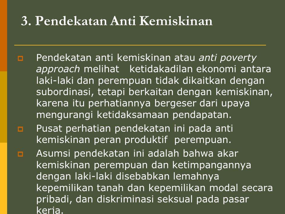 3. Pendekatan Anti Kemiskinan