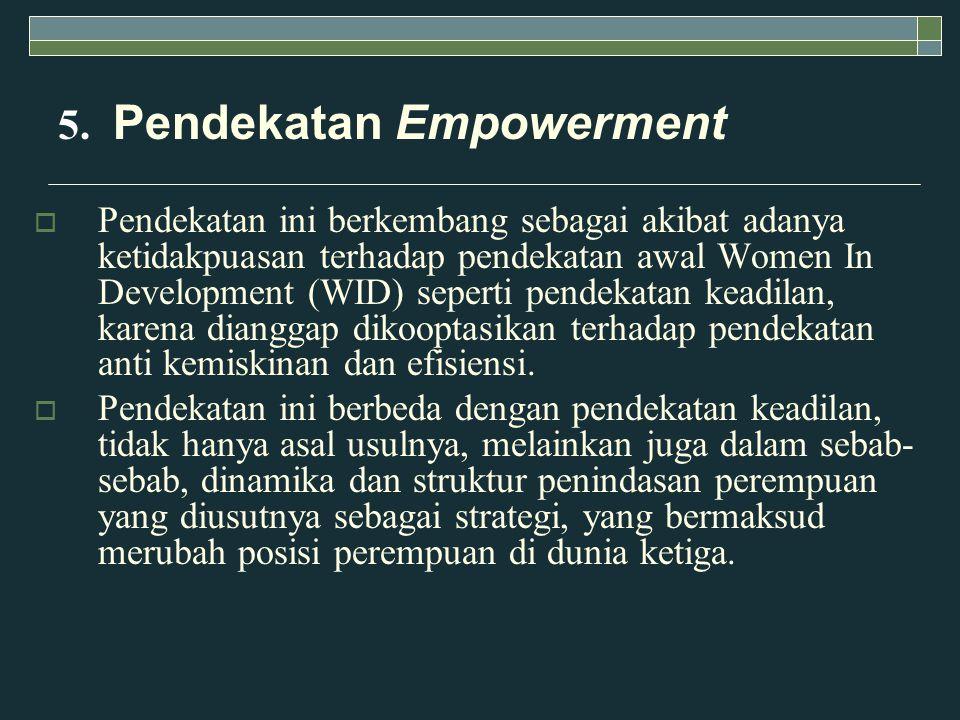 5. Pendekatan Empowerment