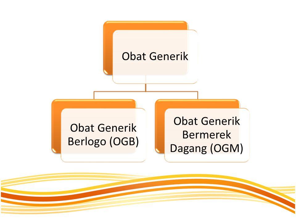 Obat Generik Berlogo (OGB) Obat Generik Bermerek Dagang (OGM)