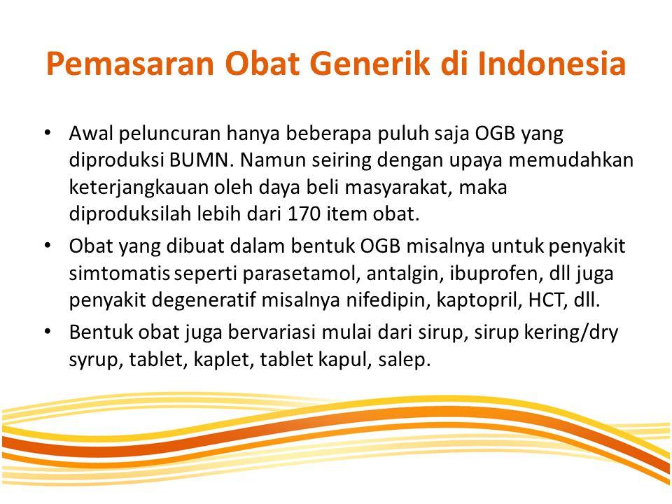 Pemasaran Obat Generik di Indonesia