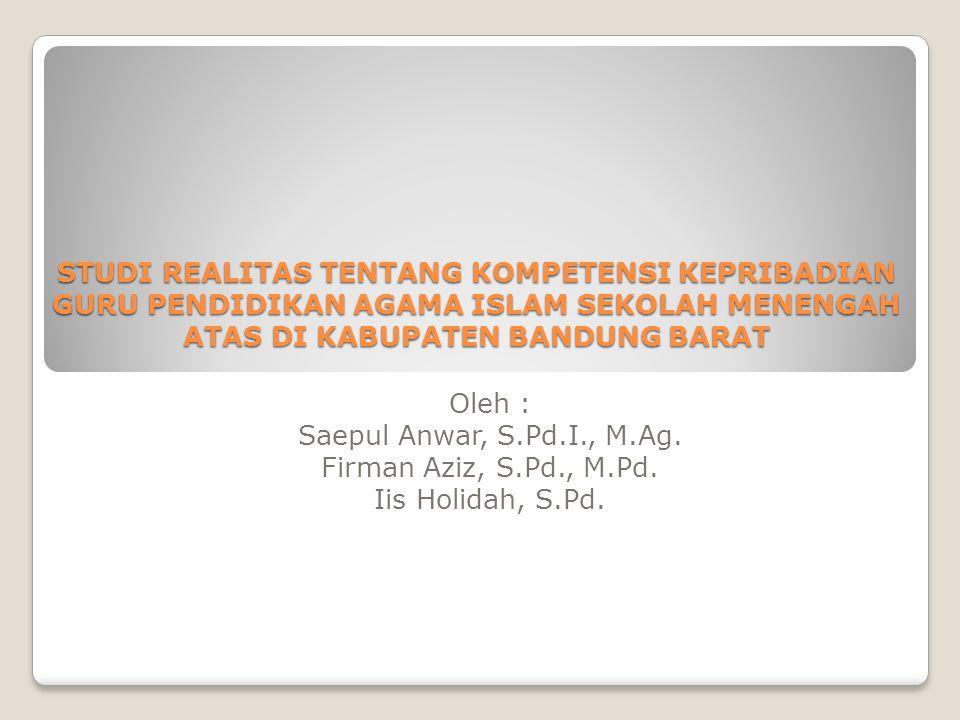 Oleh : Saepul Anwar, S.Pd.I., M.Ag.