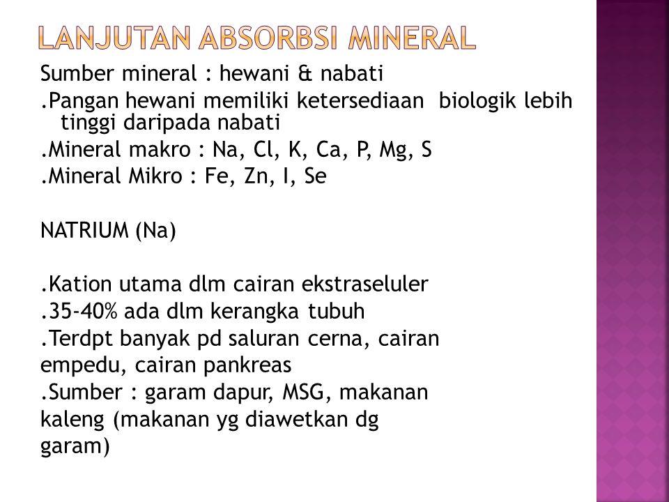 Lanjutan absorbsi mineral