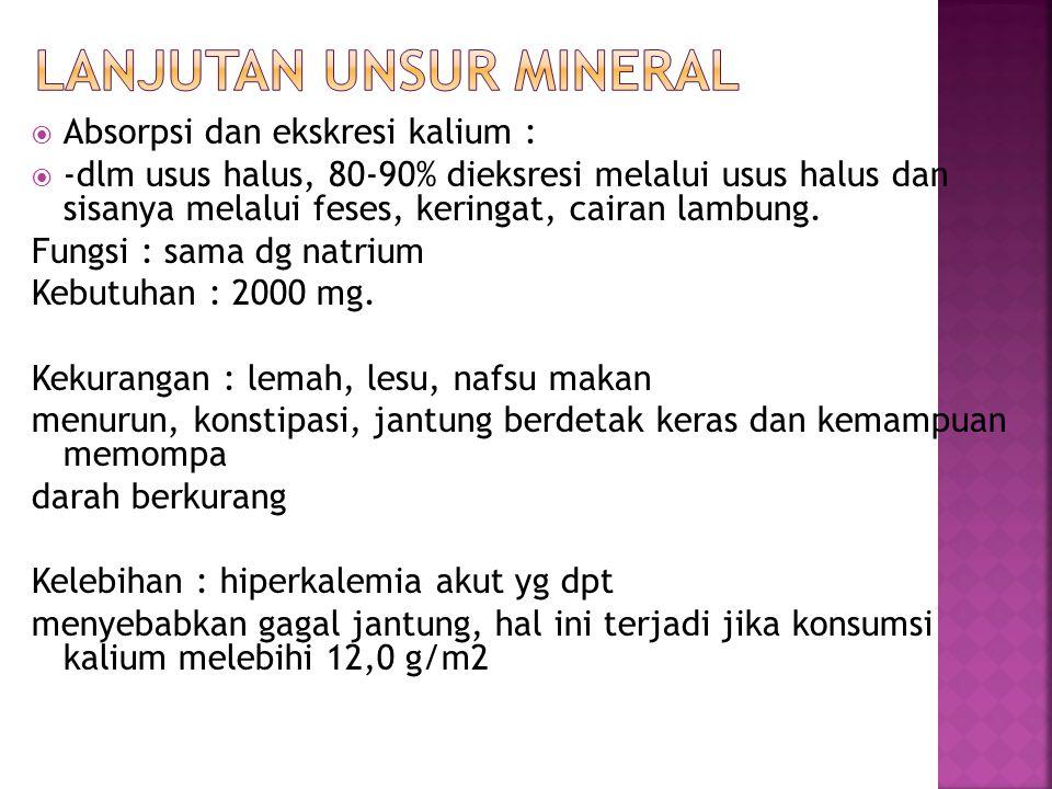 Lanjutan unsur mineral