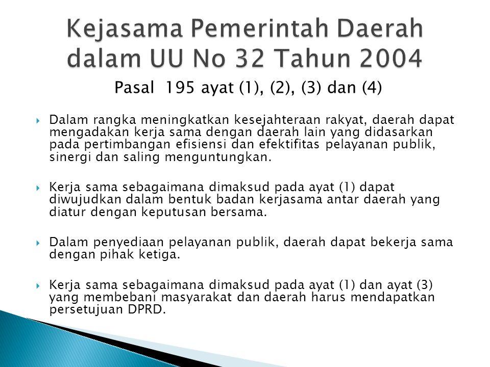 Kejasama Pemerintah Daerah dalam UU No 32 Tahun 2004