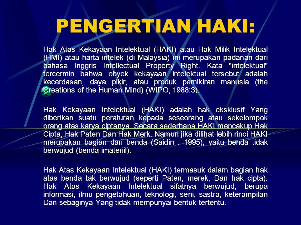 PENGERTIAN HAKI: