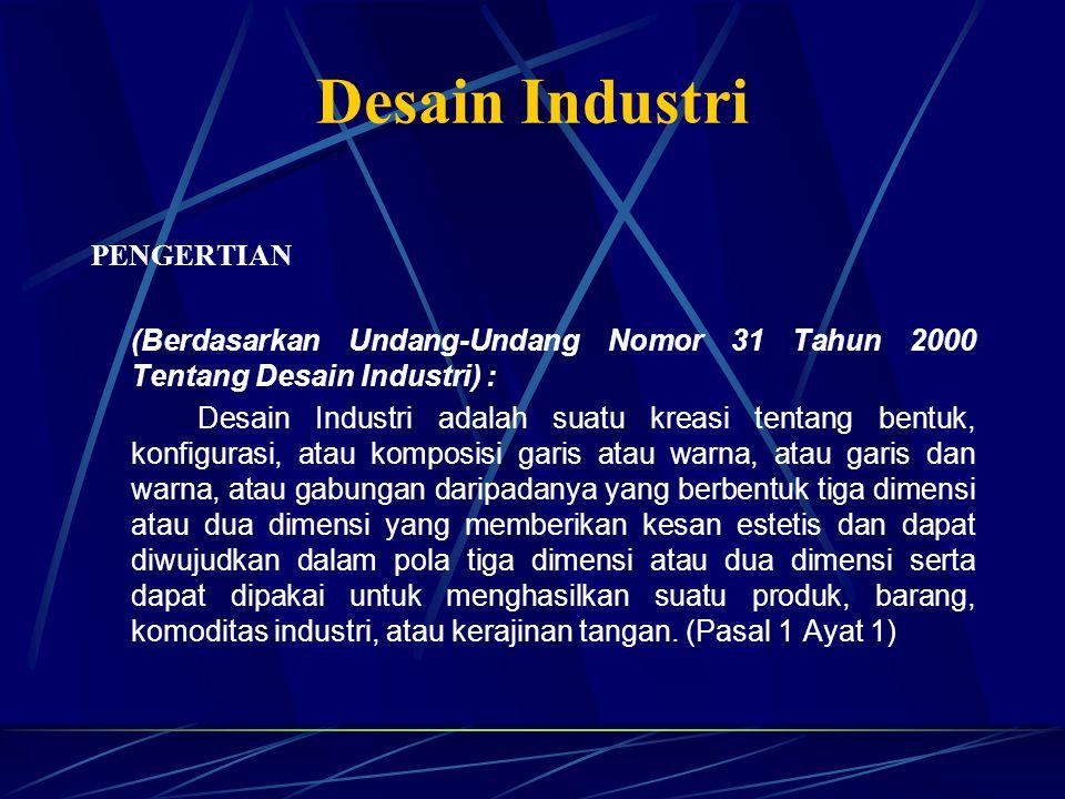 Desain Industri PENGERTIAN
