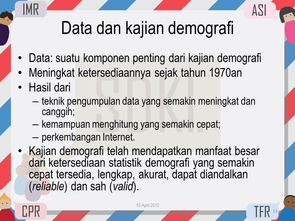 Data dan kajian demografi