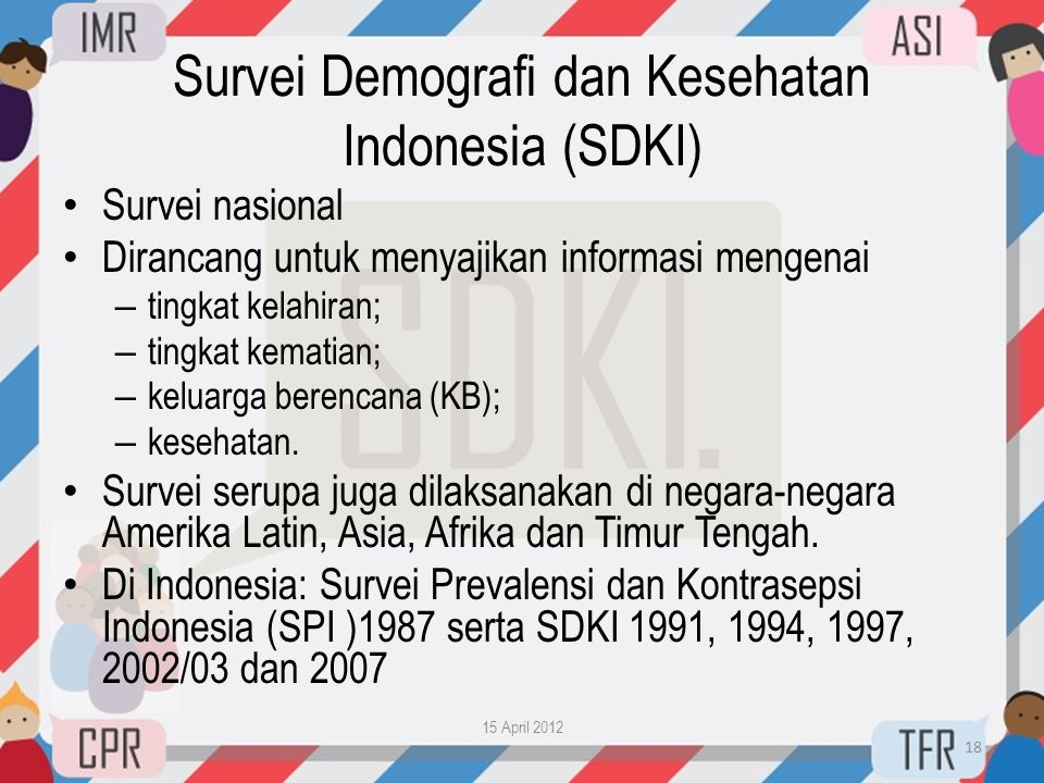 Survei Demografi dan Kesehatan Indonesia (SDKI)