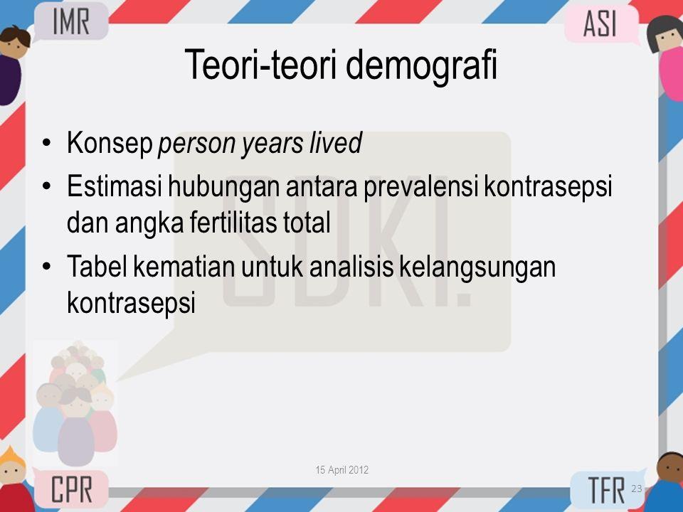 Teori-teori demografi