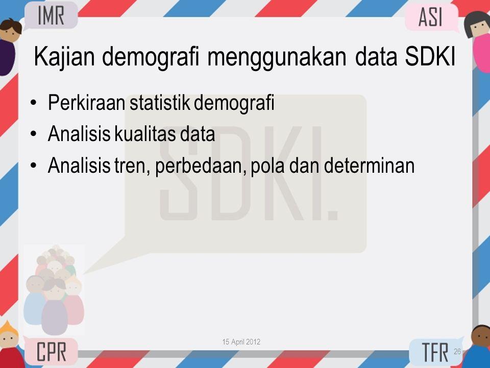 Kajian demografi menggunakan data SDKI