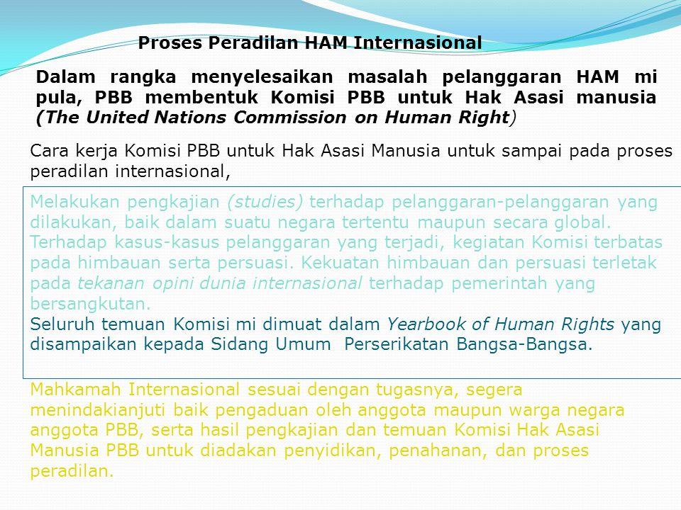 Proses Peradilan HAM Internasional