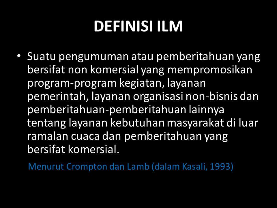 DEFINISI ILM