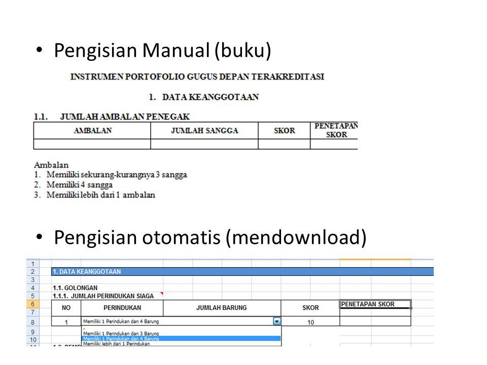 Pengisian Manual (buku)