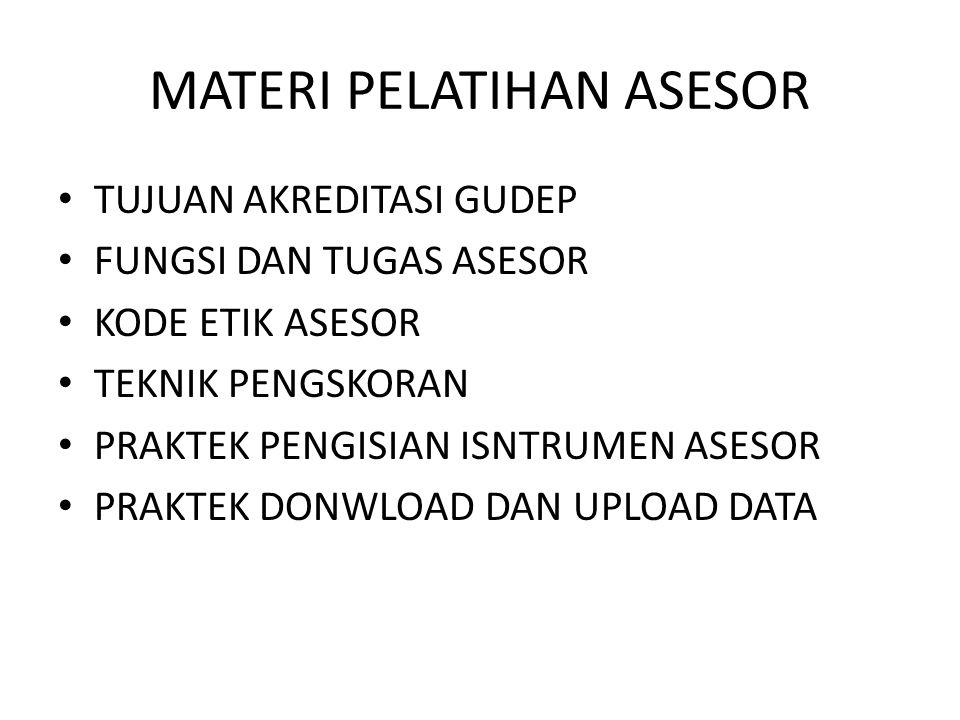 MATERI PELATIHAN ASESOR