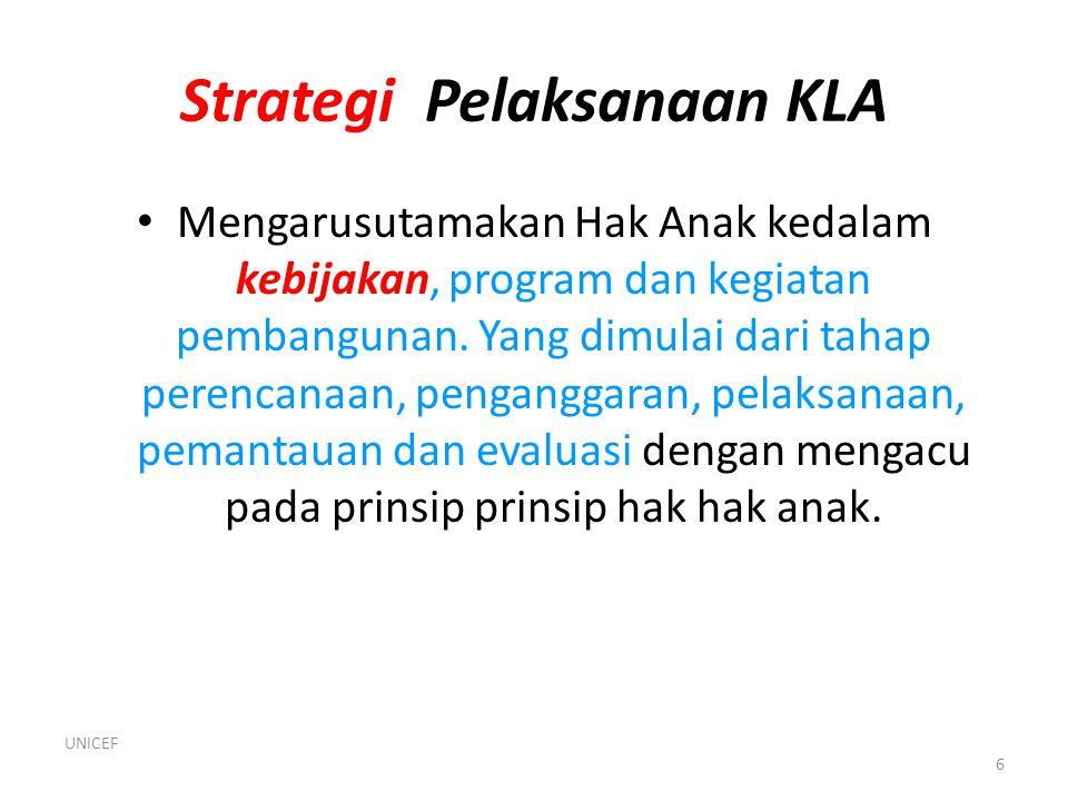 Strategi Pelaksanaan KLA