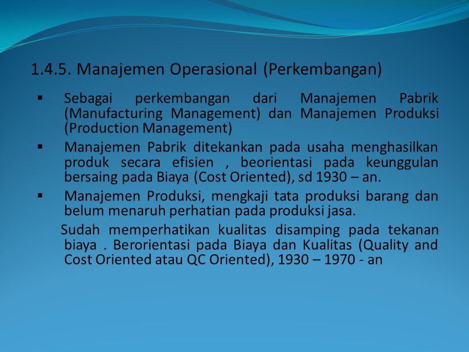 1.4.5. Manajemen Operasional (Perkembangan)