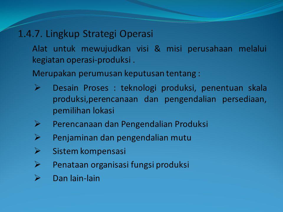 1.4.7. Lingkup Strategi Operasi