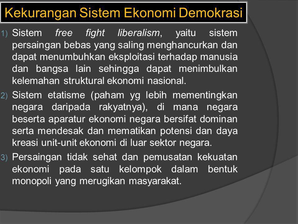 Kekurangan Sistem Ekonomi Demokrasi