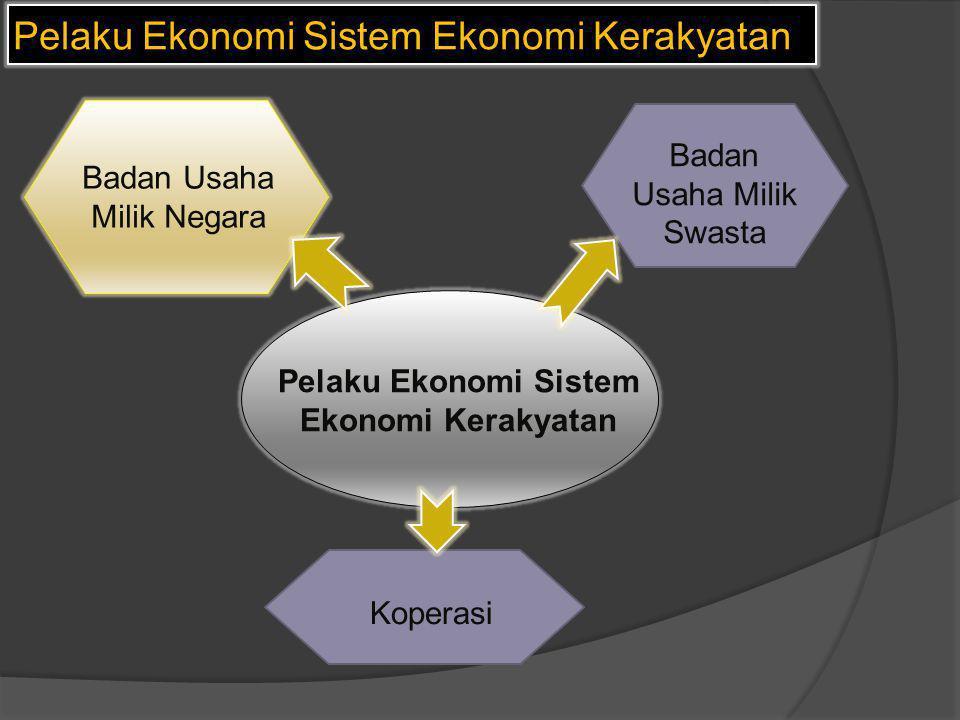 Pelaku Ekonomi Sistem Ekonomi Kerakyatan