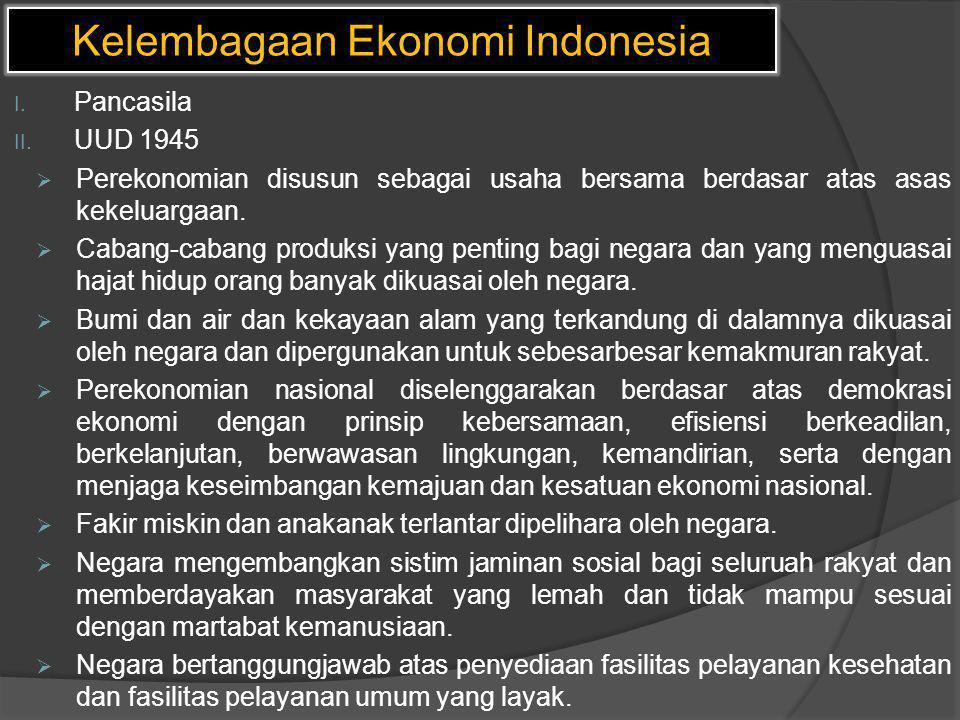 Kelembagaan Ekonomi Indonesia