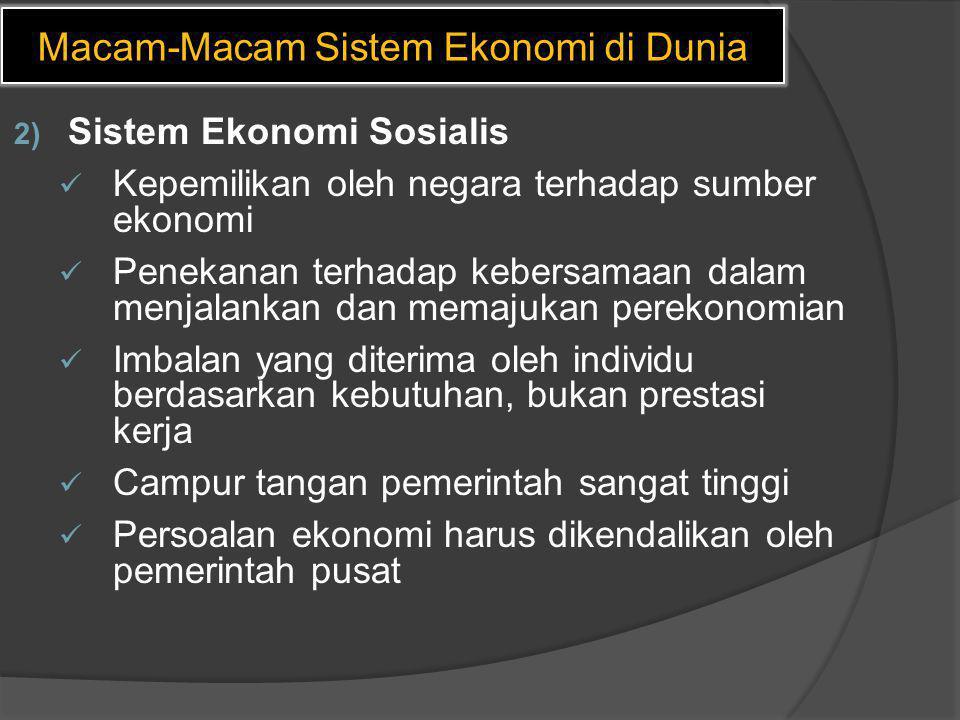 Macam-Macam Sistem Ekonomi di Dunia