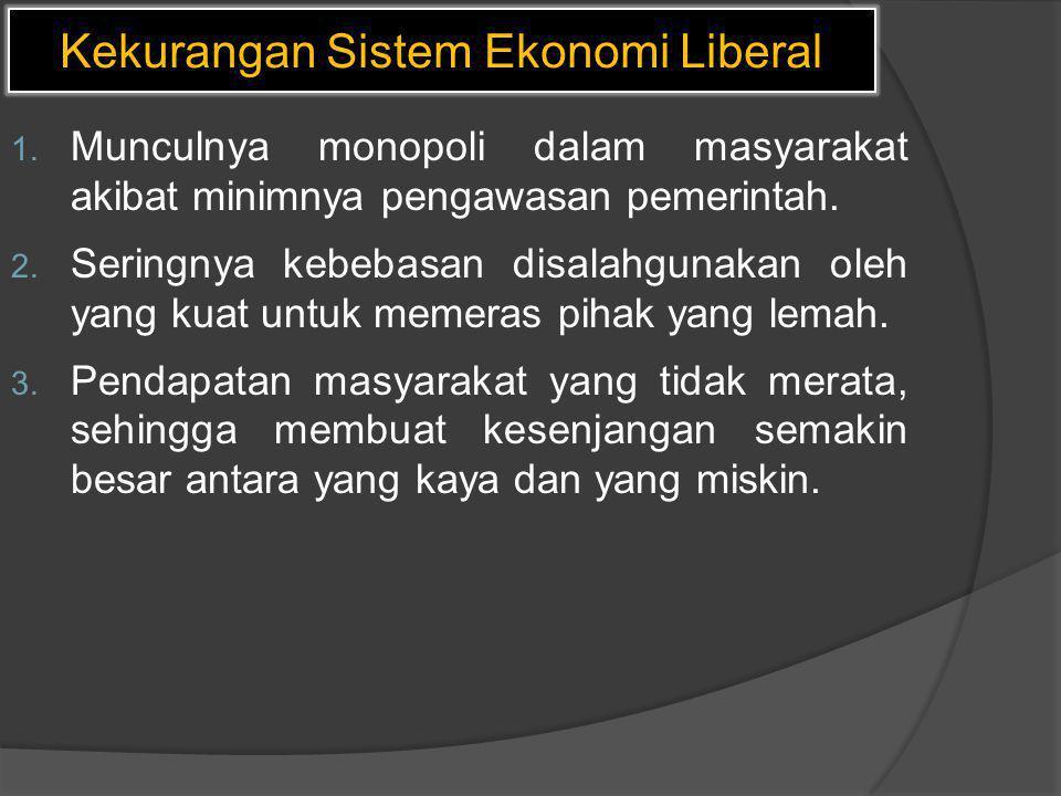 Kekurangan Sistem Ekonomi Liberal