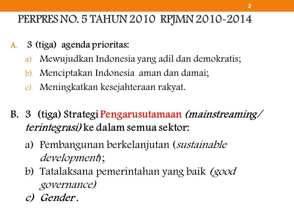 PERPRES NO. 5 TAHUN 2010 RPJMN 2010-2014