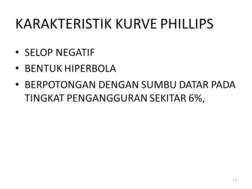 KARAKTERISTIK KURVE PHILLIPS