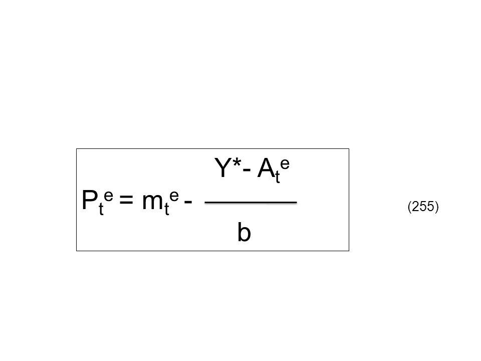 Y*- Ate Pte = mte - b (255)