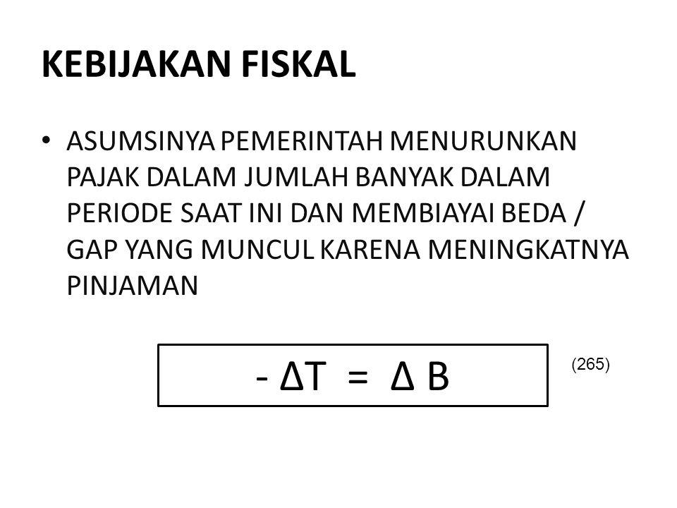 - ΔT = Δ B KEBIJAKAN FISKAL