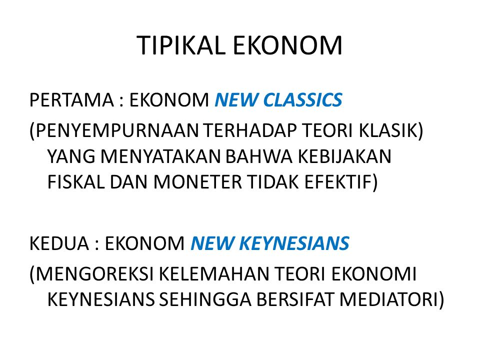 TIPIKAL EKONOM