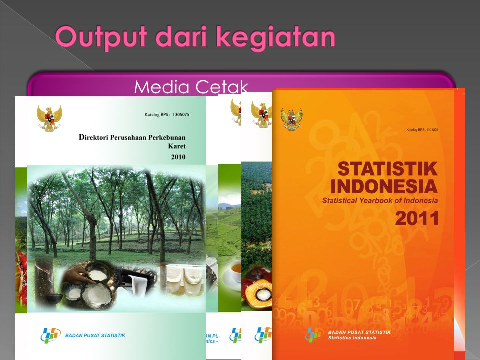 Output dari kegiatan Media Cetak Media Elektronik