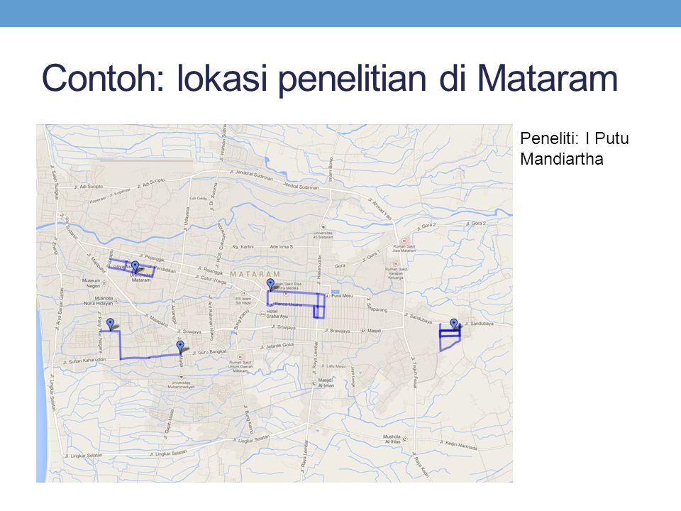 Contoh: lokasi penelitian di Mataram