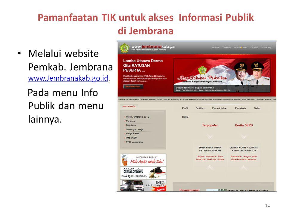 Pamanfaatan TIK untuk akses Informasi Publik