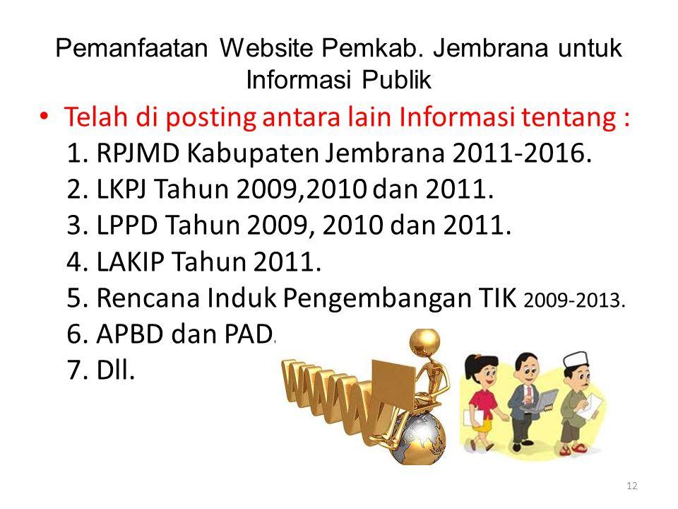 Pemanfaatan Website Pemkab. Jembrana untuk Informasi Publik