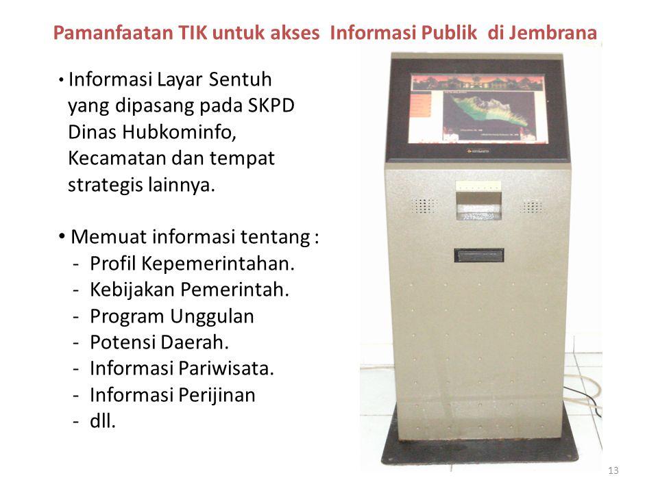 Pamanfaatan TIK untuk akses Informasi Publik di Jembrana