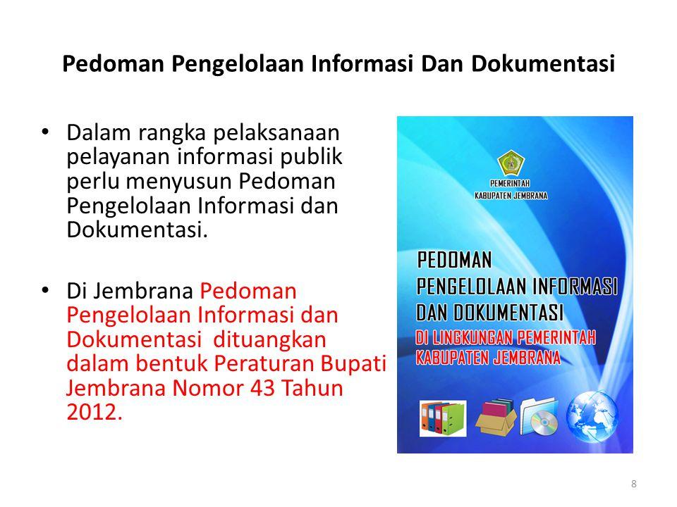 Pedoman Pengelolaan Informasi Dan Dokumentasi
