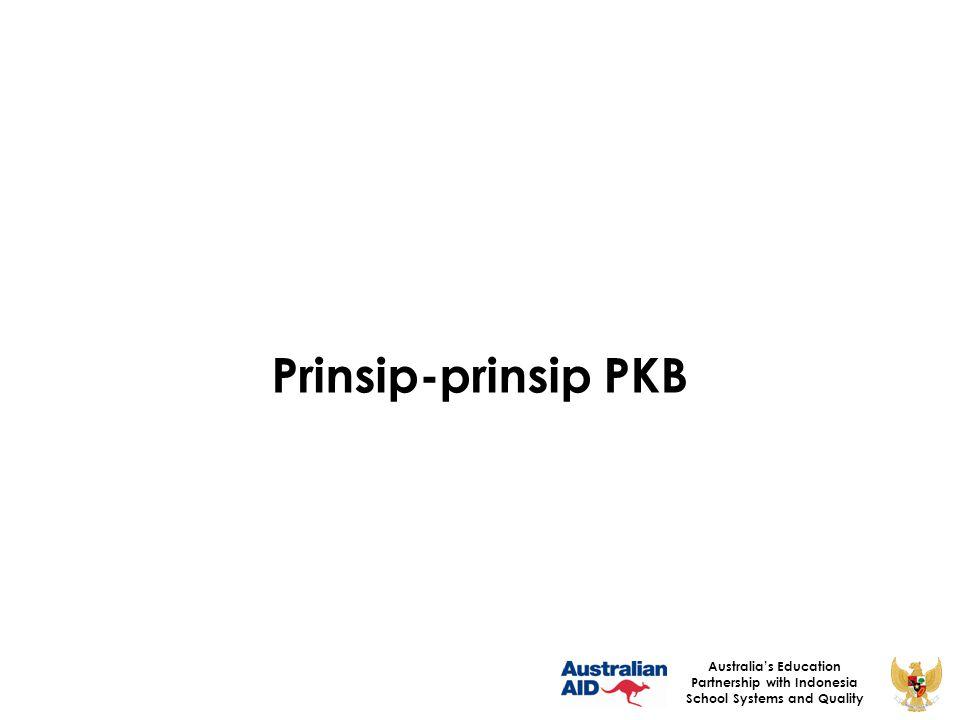 Prinsip-prinsip PKB Australia's Education Partnership with Indonesia