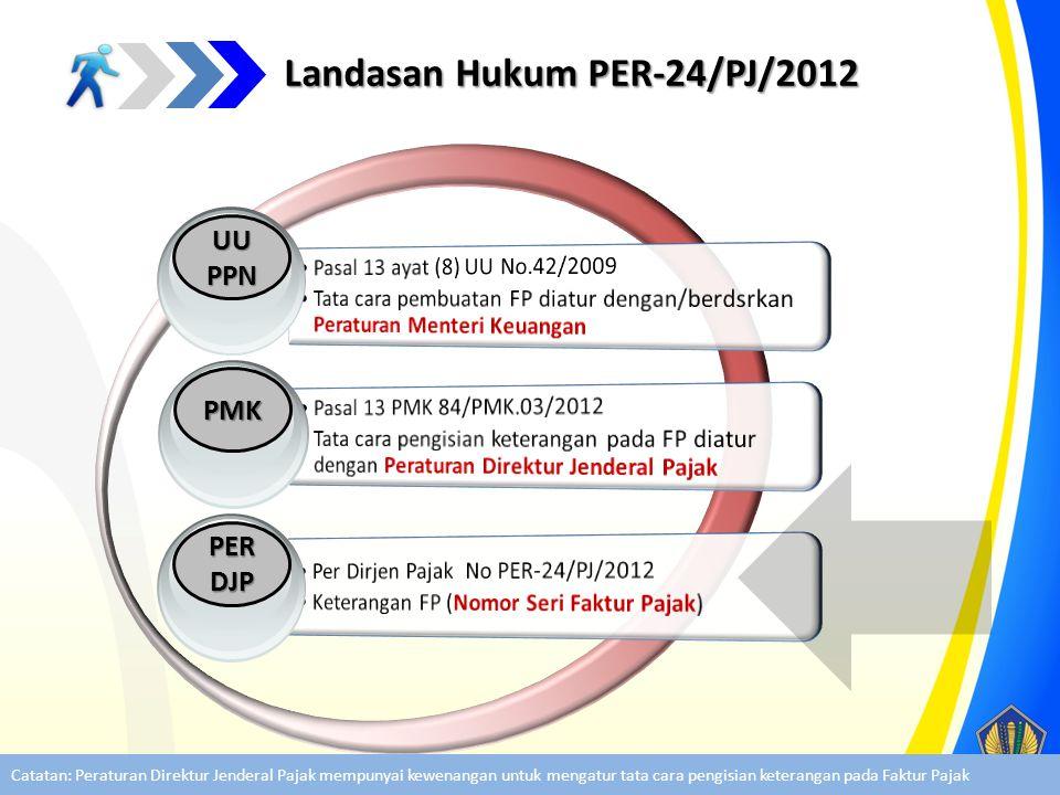 Landasan Hukum PER-24/PJ/2012