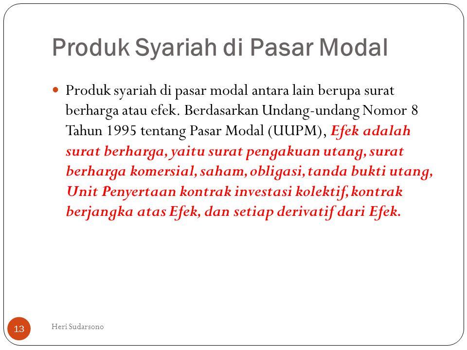 Produk Syariah di Pasar Modal