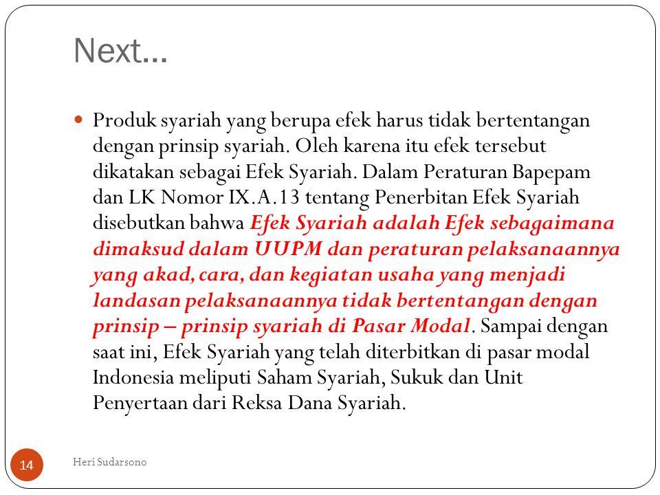Next…