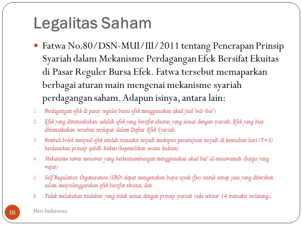 Legalitas Saham