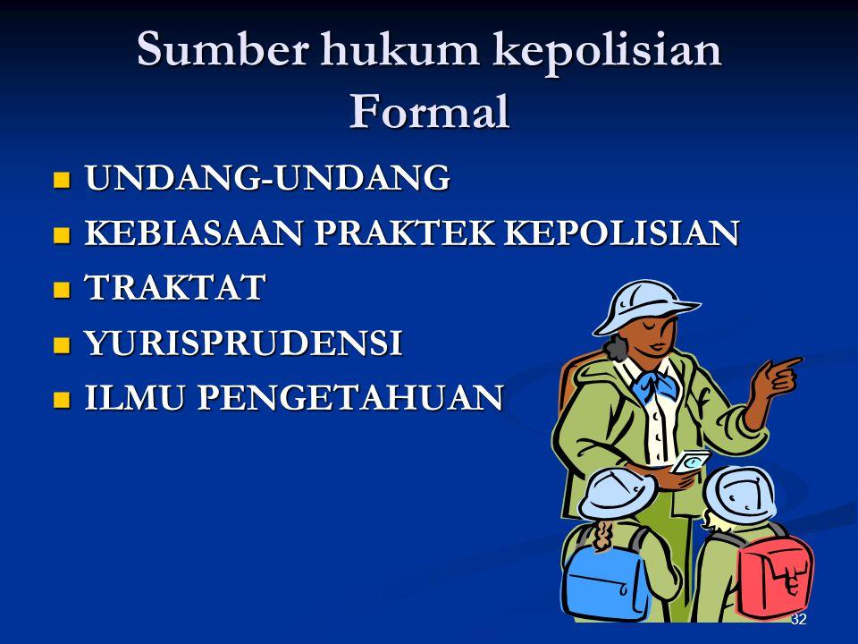 Sumber hukum kepolisian Formal