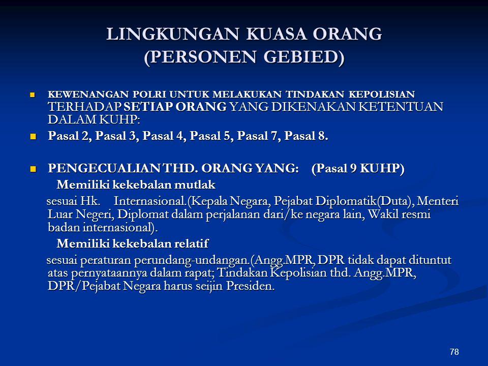 LINGKUNGAN KUASA ORANG (PERSONEN GEBIED)